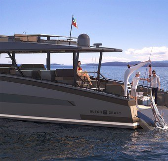 Fishing yacht.